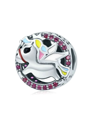 925 silver cute unicorn charm