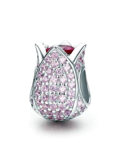 925 silver cute tulip charm