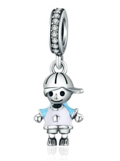925 silver boy charm