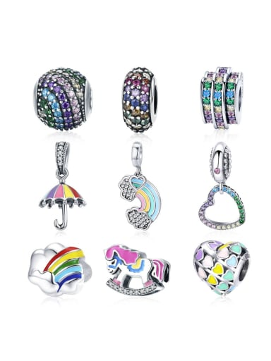 925 silver rainbow element accessories