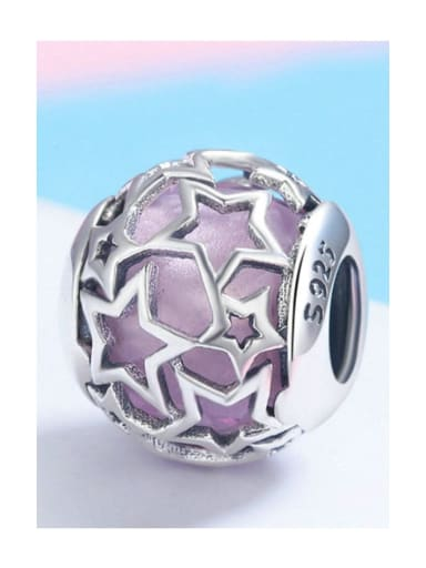 Pink 925 silver star charm