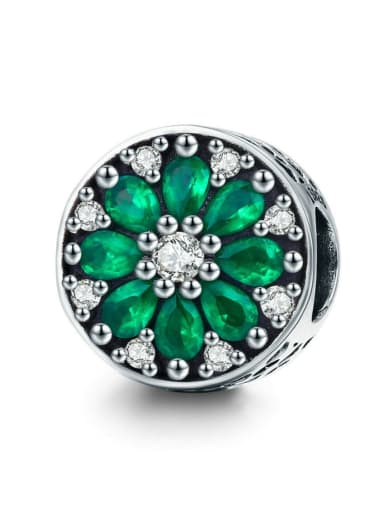925 silver flower charm