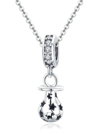 925 silver cute light bulb charm