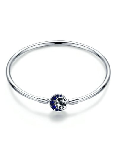 925 Silver Star Moon Element Basic Bracelet