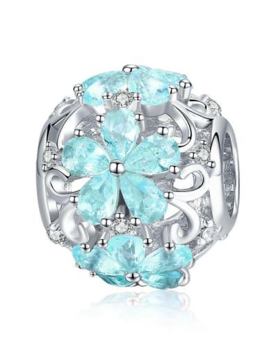SCC941 925 silver cute snowflake charm
