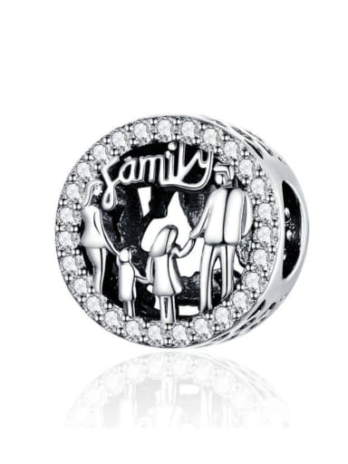 925 Silver Family charm