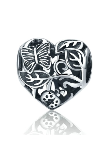 925 silver cute insect charm
