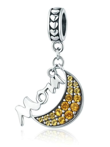 925 Silver Moon Mother charm