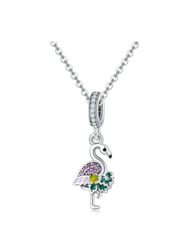 Single Chain Pendant 925 silver cute swan charm
