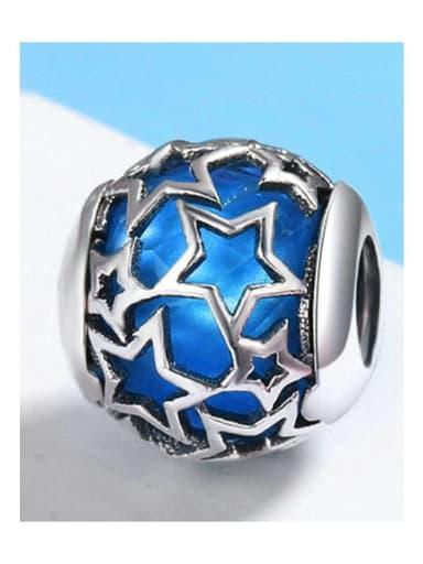 blue 925 silver star charm