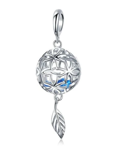 925 Silver Eternal Flower charm