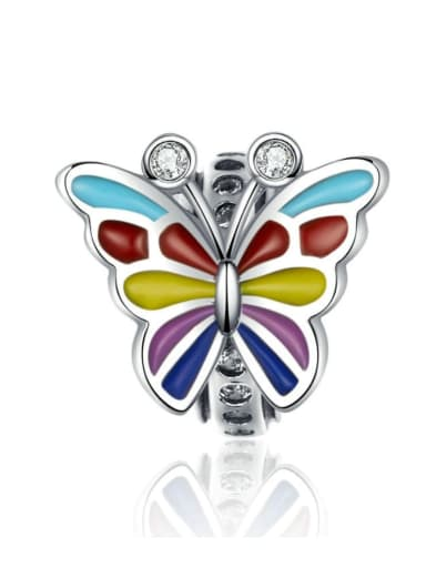 925 silver cute butterfly charm