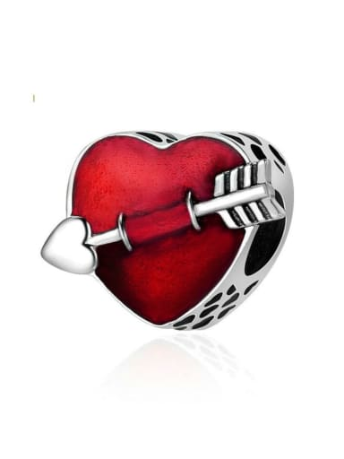 925 silver romantic heart charm