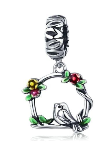 925 silver cute bird charm