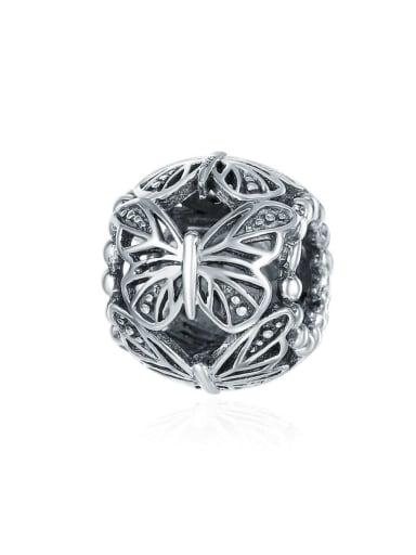 925 silver cute butterfly charm