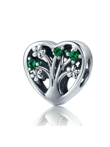 925 silver cute tree charm