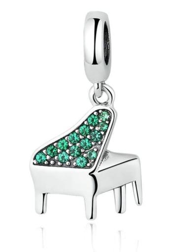 925 silver piano charm