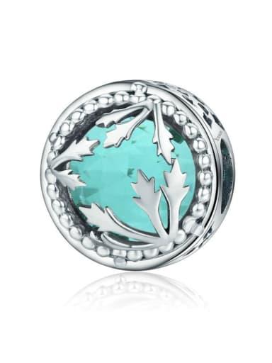 925 silver cute leaf charm
