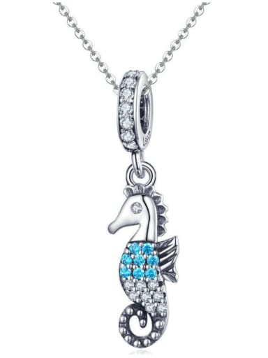 Pendant Chain 925 silver cute hippocampus charm