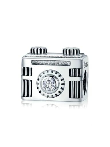925 silver retro camera charm