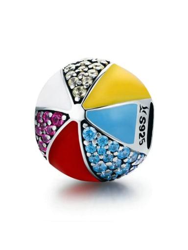 925 silver cute ball charm