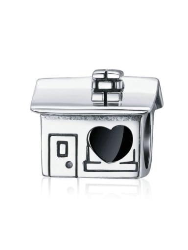 925 silver cute house charm