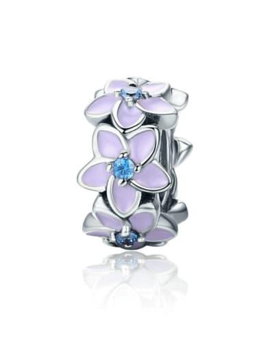 925 silver romantic flower charm