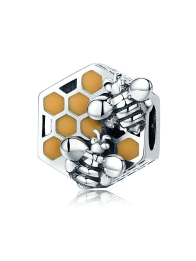 925 silver cute honeycomb charm