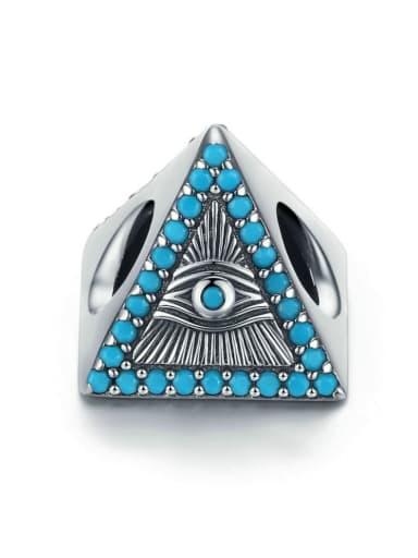 925 Silver Devil's Eye charm