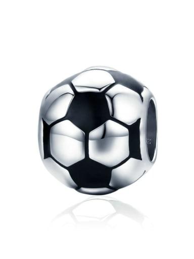 925 silver football charm