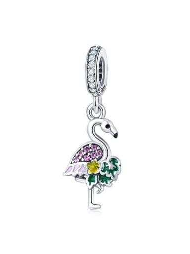 Pendant 925 silver cute swan charm