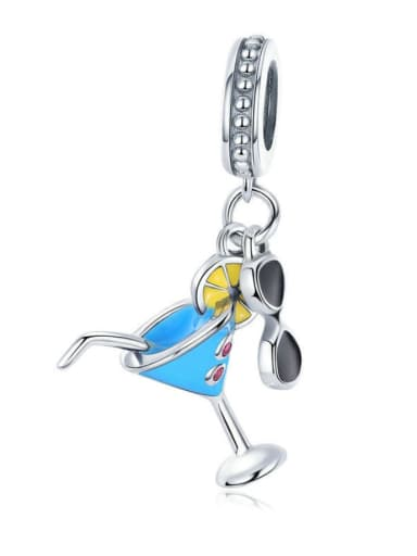 925 Silver Summer Cold Drink charm