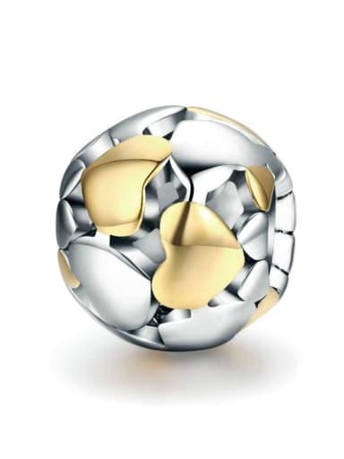925 silver cute heart charm