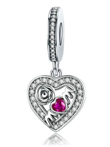 925 Silver Mother's Day Rose charm