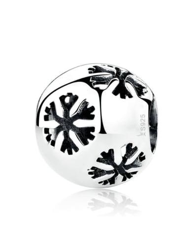 925 silver cute snowflake charm