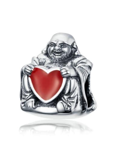 925 silver cute Maitreya Buddha charm