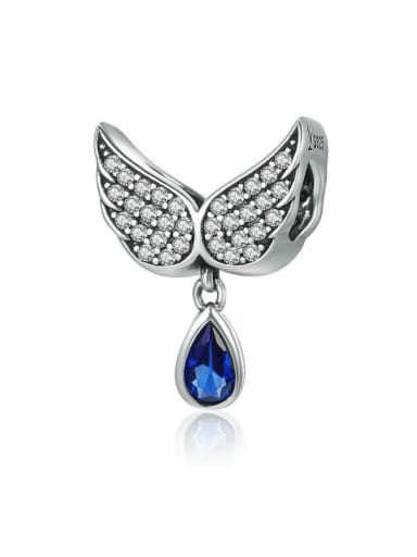 925 Silver Angel Wings charm
