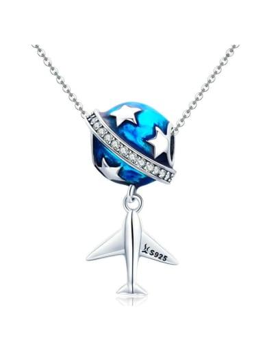 Pendant Chain 925 silver aircraft charm