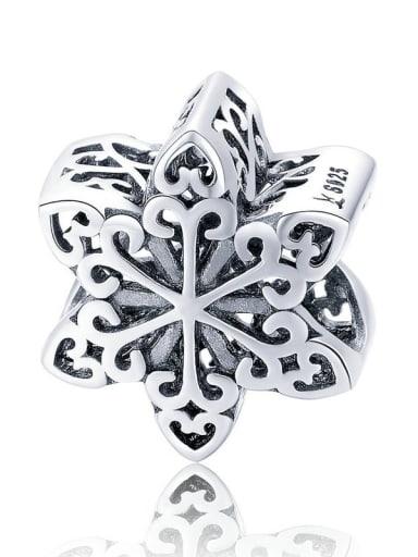 SCC719 925 silver cute snowflake charm