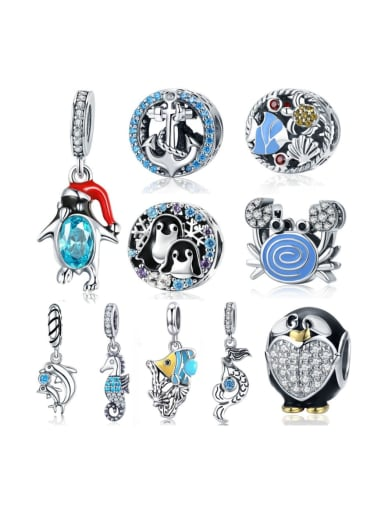 925 silver Marine life element accessories