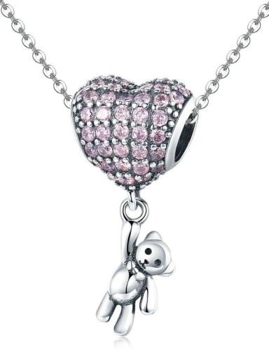 Pendant Chain 925 silver cute bear and balloon charm