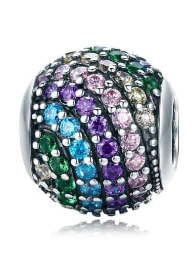 Rainbow beads 925 silver rainbow charm
