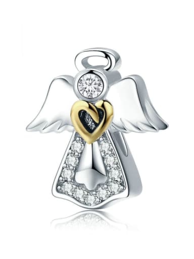 925 Silver Romantic Angel charm