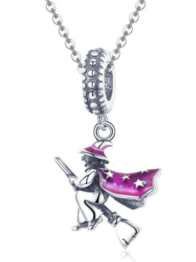 925 Silver Witch charm
