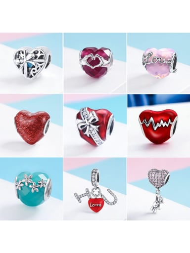 925 Sterling Silver With Antique Silver Plated Classic Heart Charm