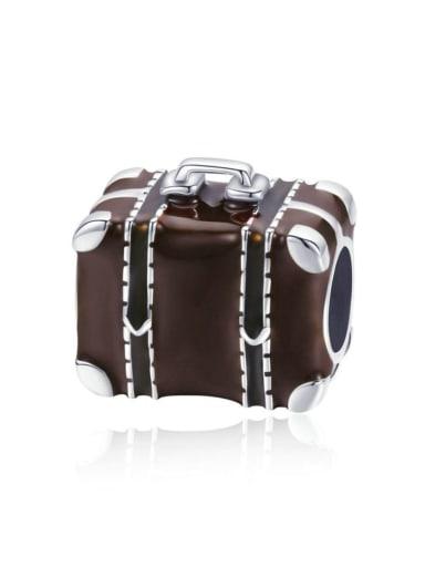 925 silver cute suitcase charm