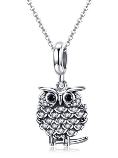 Pendant Chain 925 silver cute owl charm