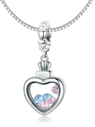 925 silver cute heart element accessories