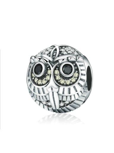 925 silver cute owl charm