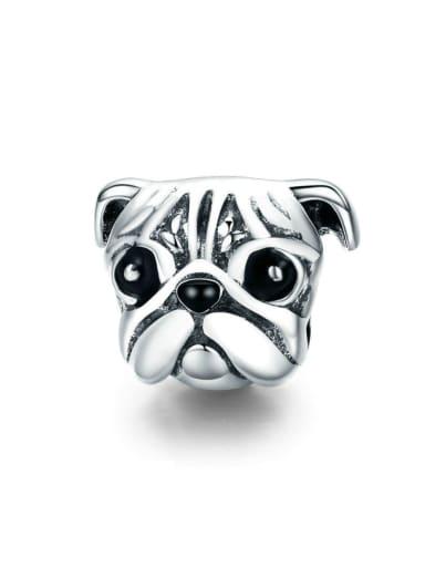 925 silver cute dog charm
